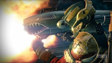 The Dragon's Breath exotic rocket launcher in action.