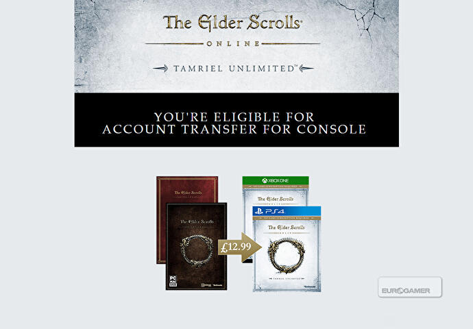 Elder Scrolls Online offers £12 99 PC-to-console migration deal