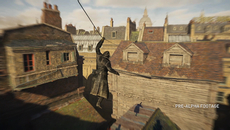 A grappling hook of sorts is added to the gameplay mix, allowing the assassins to quickly reach the rooftops. The new equipment also doubles as a zipline. The sense of speed here is amplified via a motion blur effect.