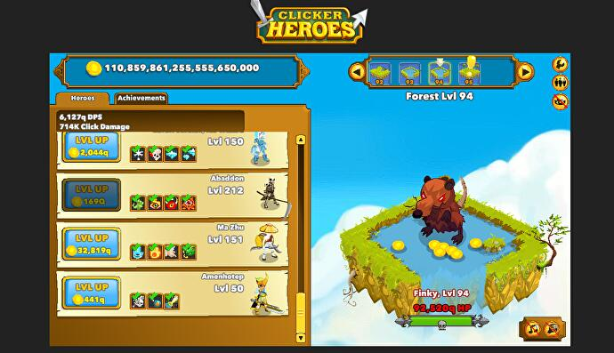 Going up? The mindless pleasures of Clicker Heroes