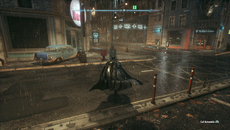 Cloth physics also decorate the city, with flags, and Batman's flowing cape now whipping to each movement dynamically.