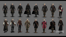 Concepts of armour for Geralt.