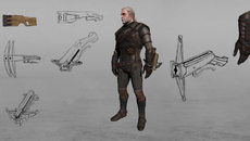Ideas for Geralt's crossbow, which you could wrist-mount by the look of it.