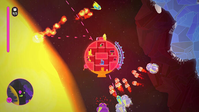Lovers in a Dangerous Spacetime a