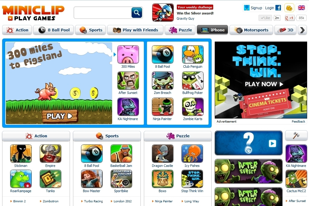 Miniclip is a popular internet portal known for its extensive collection of online games and miniclips. An emerging player in the casual games market segment, resultsmanual.gq has experience enormous growth in visitors and user interaction since inception.