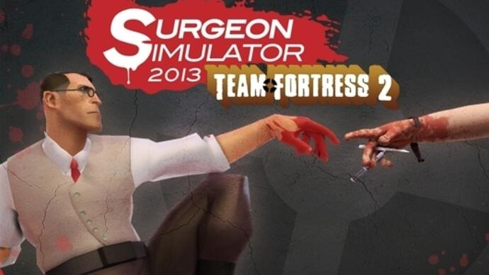 Operate on the Team Fortress 2 Medic and Heavy with free Surgeon Simulator 2013 update
