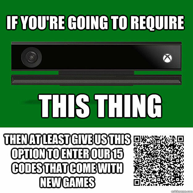 Say goodbye to 25 digit Xbox codes - scan QR codes using Kinect