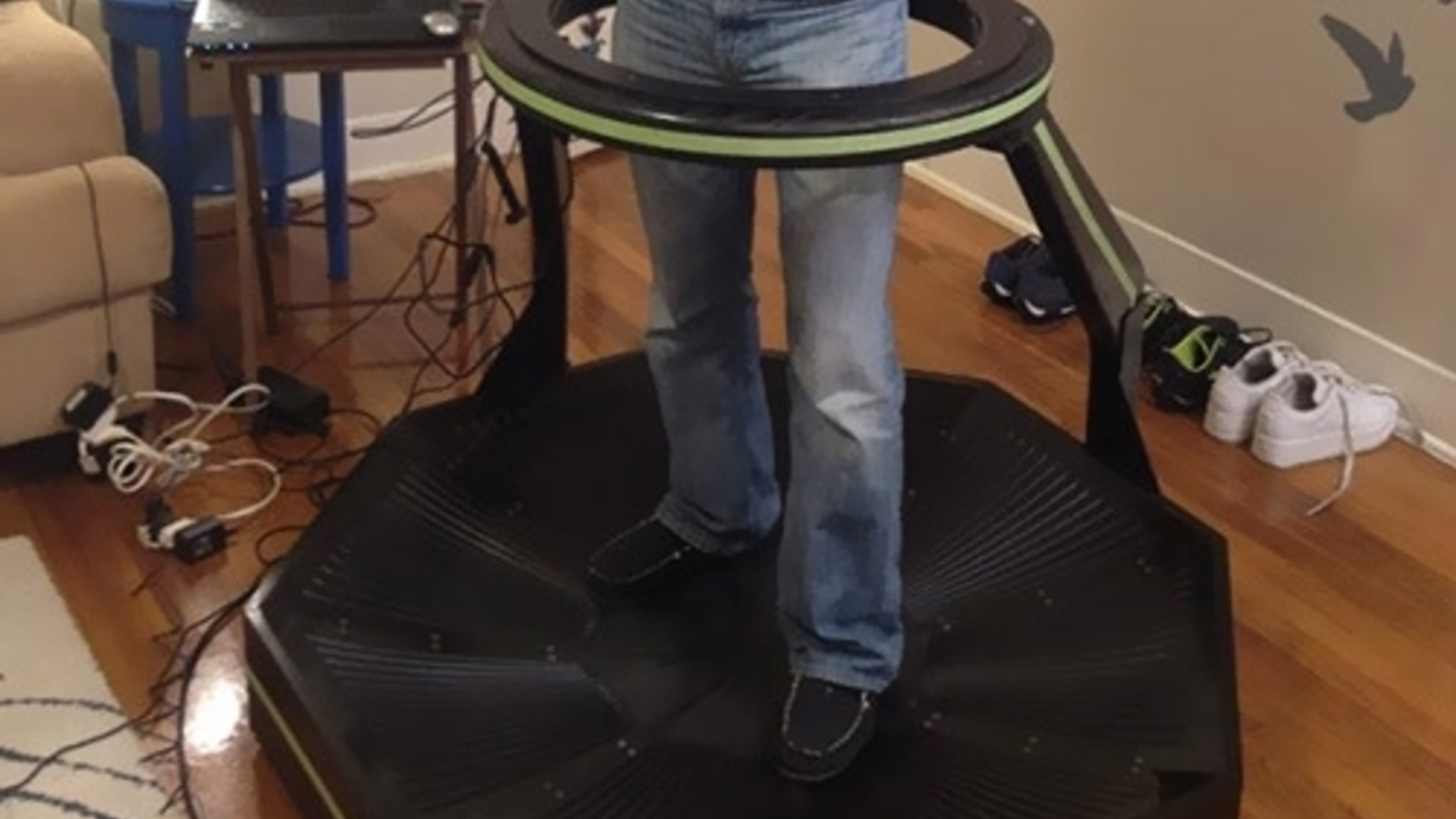 Omni treadmill: The future of VR goes in every direction