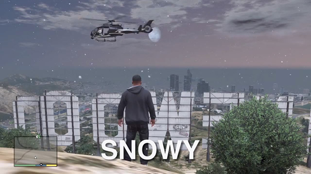 See GTA 5's Weather In Action (With this Weather Cheat Code)