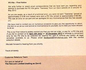Zavvi threatens customers with legal action after accidentally sending free Vitas