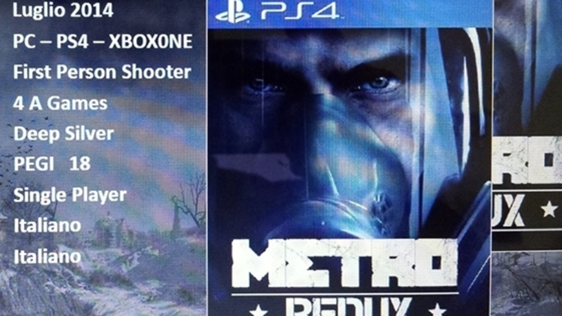 Looks like the Metro games are ing to PS4 and Xbox e