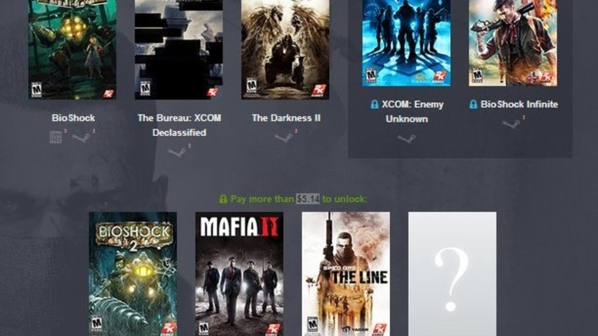 Pay what you want for The Bureau: XCOM Declassified, The Darkness 2 and BioShock