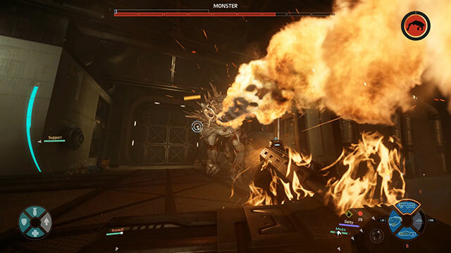 Everyone Is on Fire in Evolve Gameplay from New Map Distillery