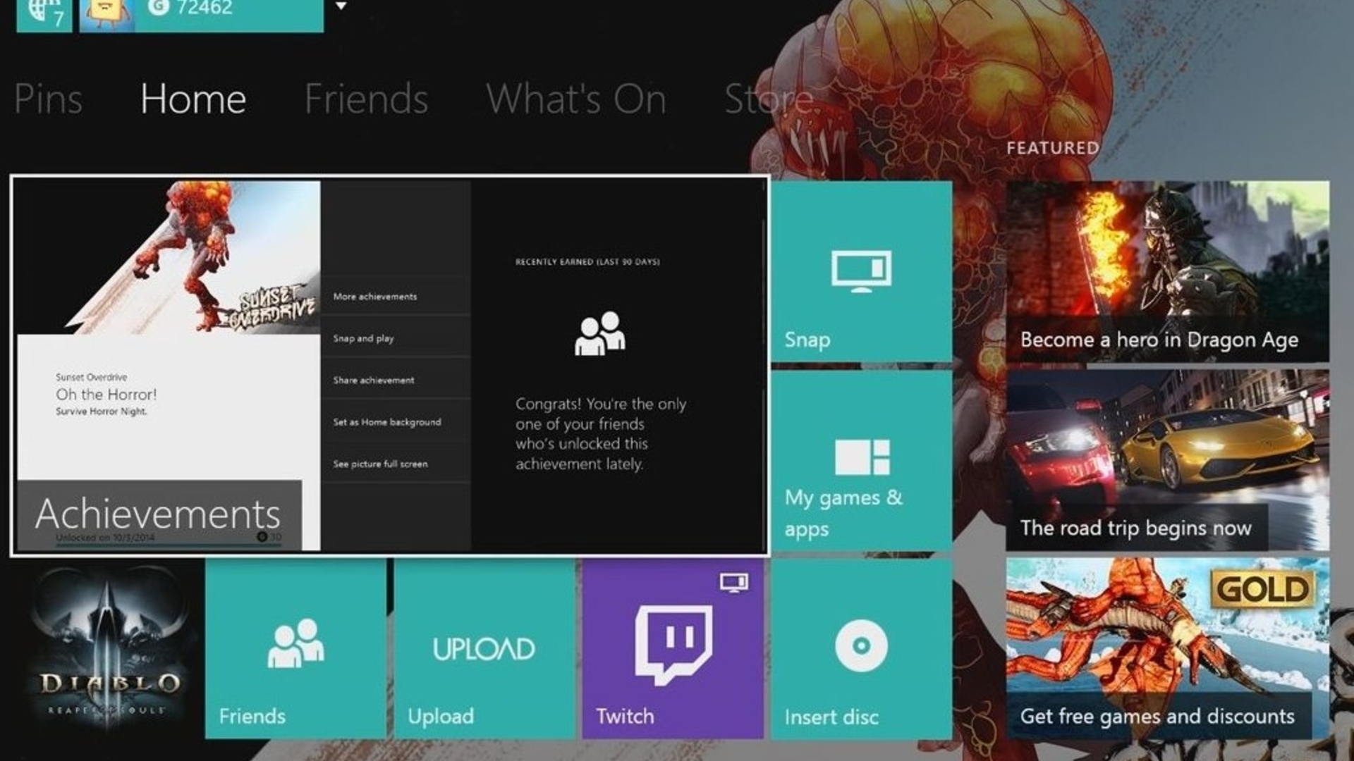Xbox One November update adds custom backgrounds, Twitter integration
