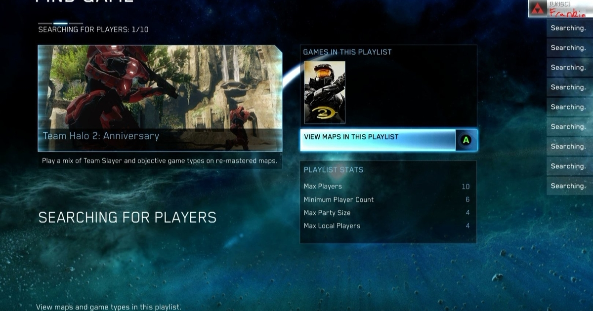 Insensible Matchmaking Players For Mcc Searching Halo patch