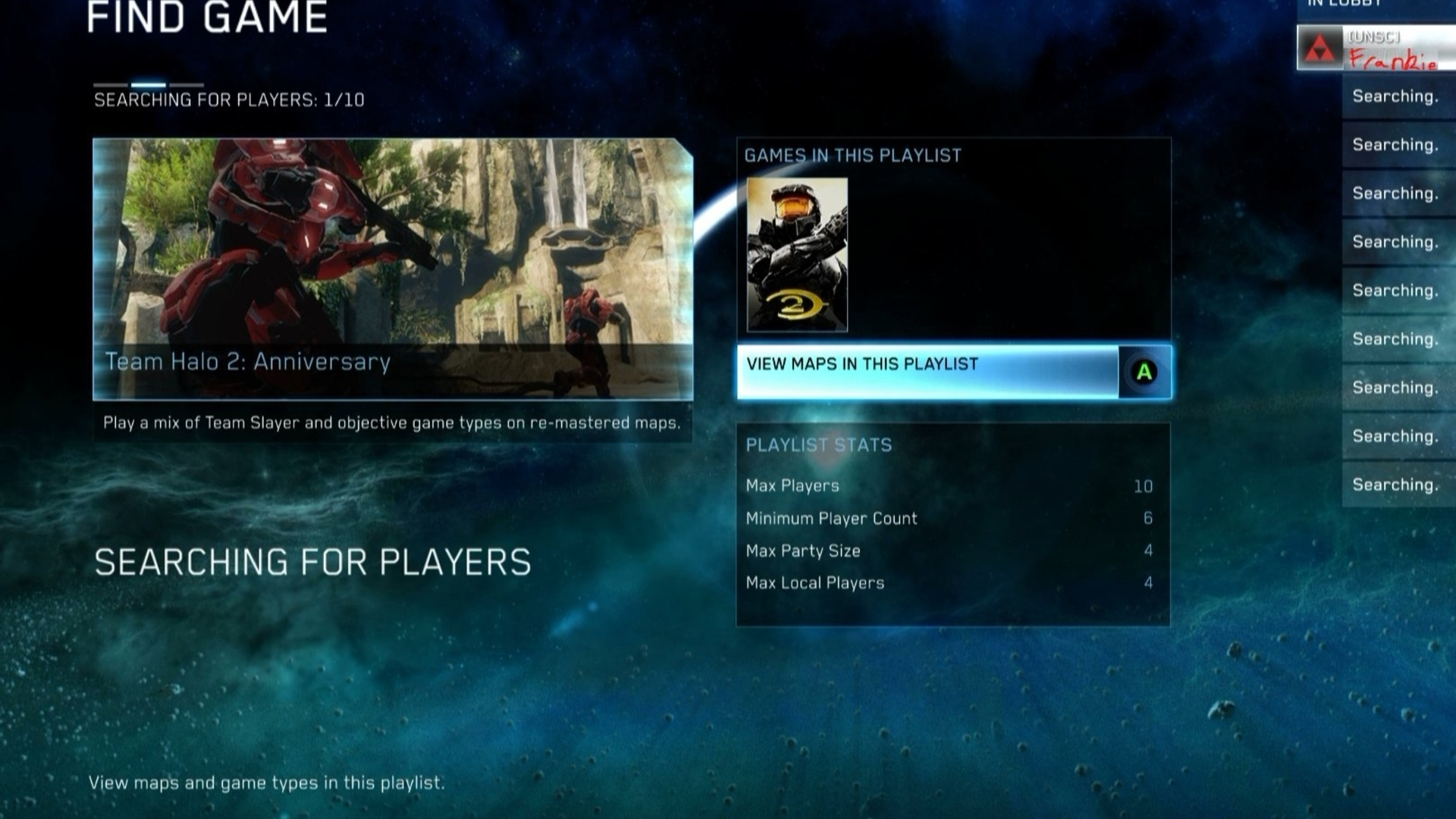 halo 4 matchmaking restarting search