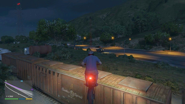 This Motorbike Jump in GTA 5 Is a Turning Point in the Oxbox Xmas Challenge