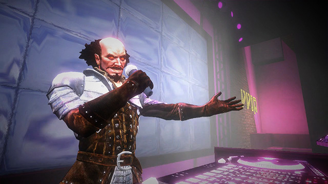 Shakespeare is a DJ in Saints Row: Gat Out of Hell