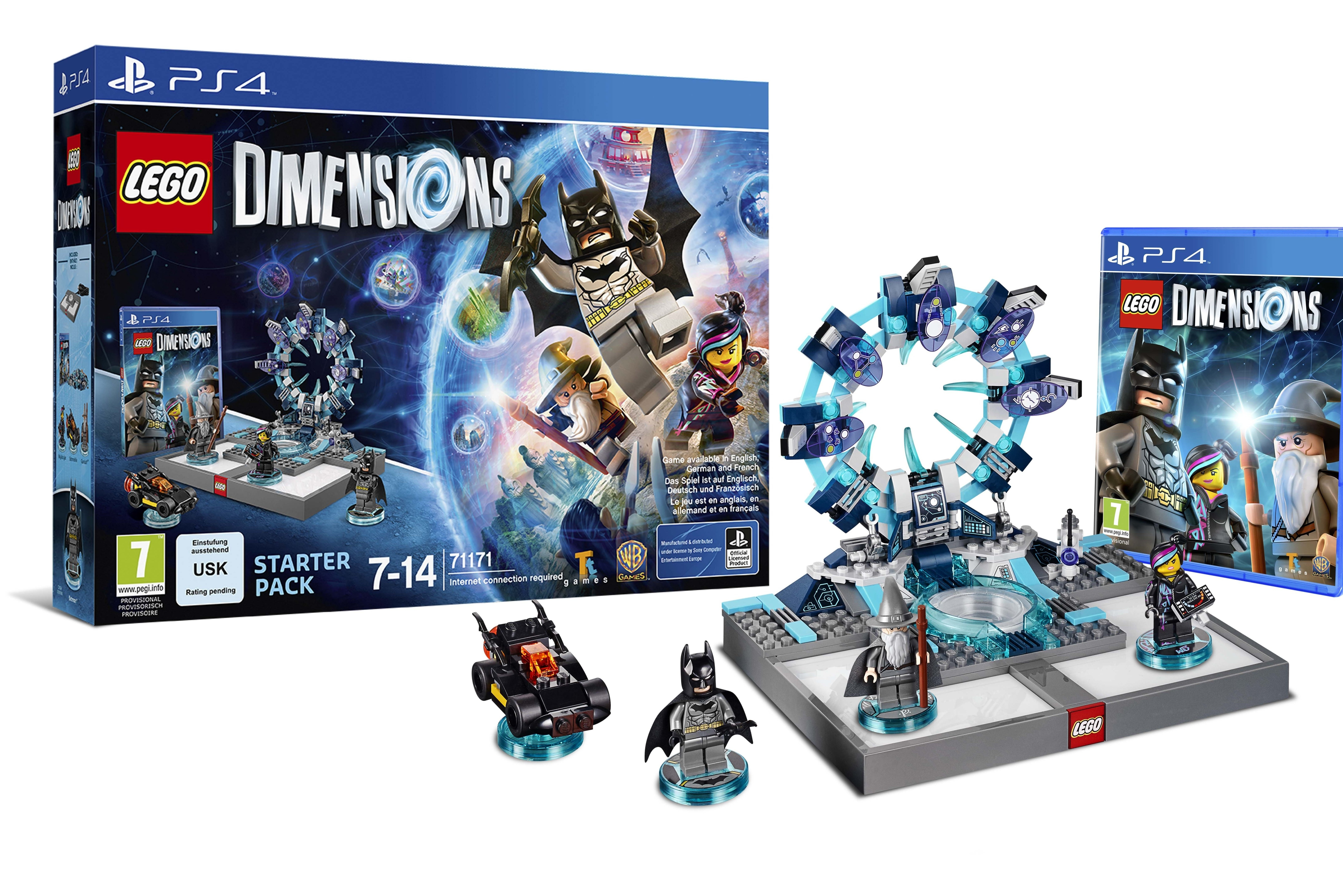 skylanders style lego dimensions features batman gandalf back to the future. Black Bedroom Furniture Sets. Home Design Ideas