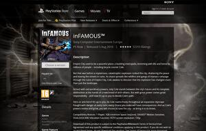 UK PlayStation Store lists inFamous for PS Now • Eurogamer net