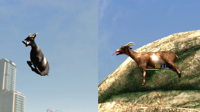 Goat Simulator on Xbox One Has Split Screen, Fus Ro Dah