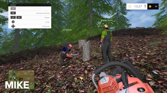 Chainsaw Jenga Is Jenga but with Chainsaws in Farming Simulator 15