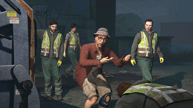 We Take Out the Actual Trash in GTA Online Trash Truck Heist