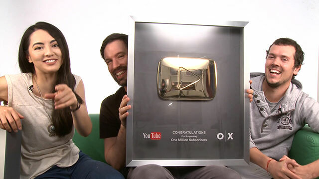 YouTube Sent Us a Gold Play Button for 1 Million Subscribers