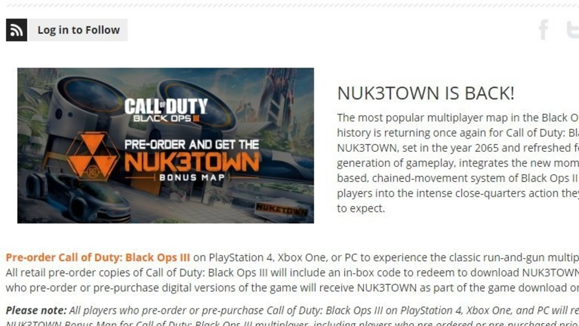It turns out Call of Duty: Black Ops 3\'s Nuketown map is a GAME ...
