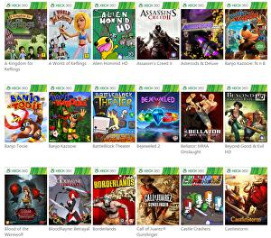 Xbox One list of Xbox 360 backwards compatibility games