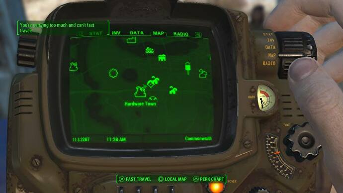 Magnificent Fallout 4 Encumbrance How To Lighten The Load Eurogamer Net Unemploymentrelief Wooden Chair Designs For Living Room Unemploymentrelieforg