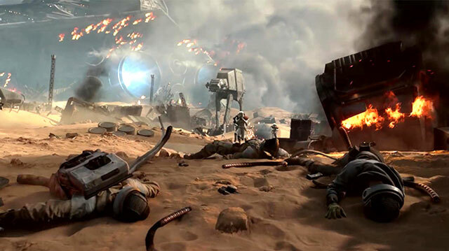 Star Wars Battlefront's New Planet is Covered in Flaming Spaceship Wreckage