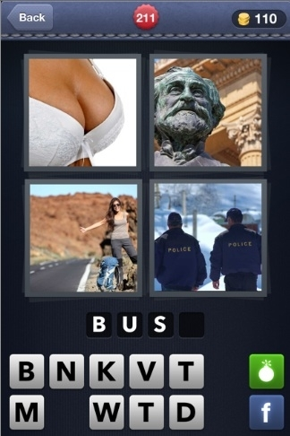 Pics 1 Word Cheats: 4 Letter Words Part 4