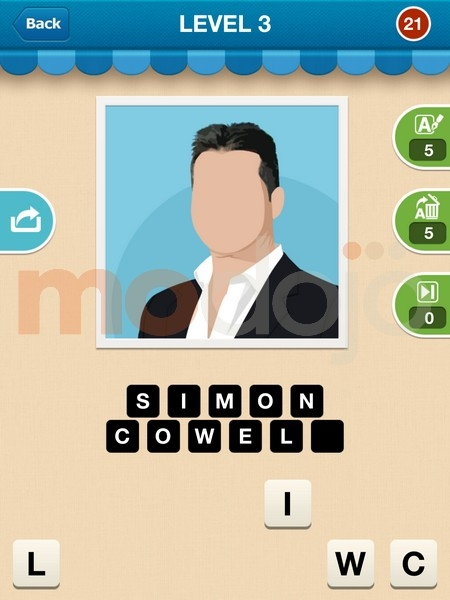 Guess That Celebrity Answers - Game Solver