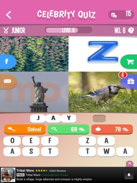 Level 127 celebrity guess cheats
