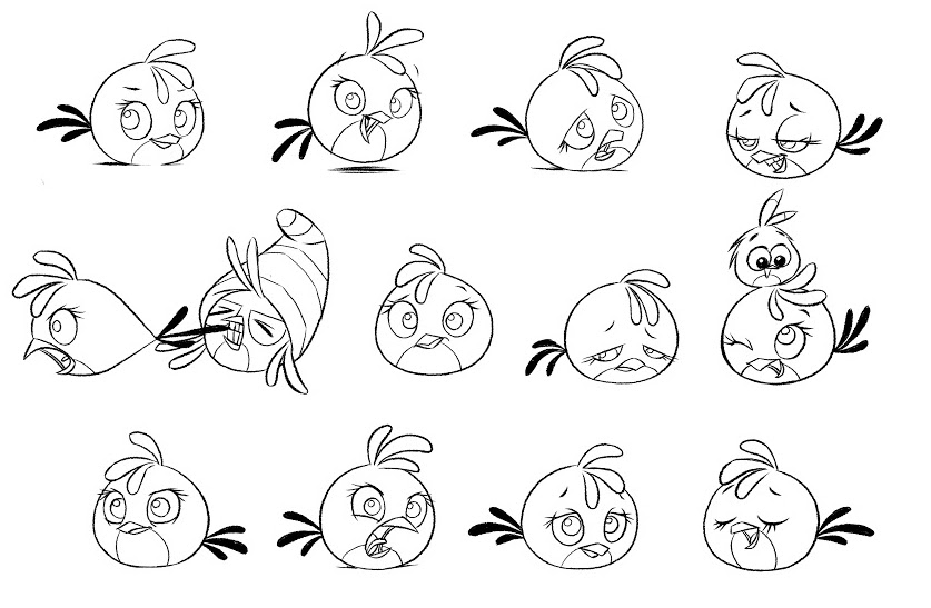 Coloring Pages Angry Birds Stella : Stella Angry Birds Coloring Pages