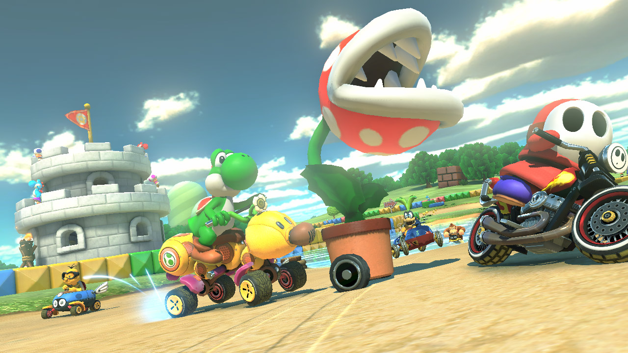 Bikes Mario Kart 8 in Super Mario D World