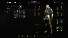 Some of the new armour in Blood and Wine. This is the Grandmaster Griffin armour.
