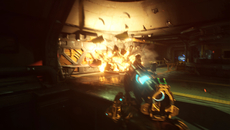 The combination of motion blur and beautifully realised pyrotechnics helps give Doom's explosions some real grunt.