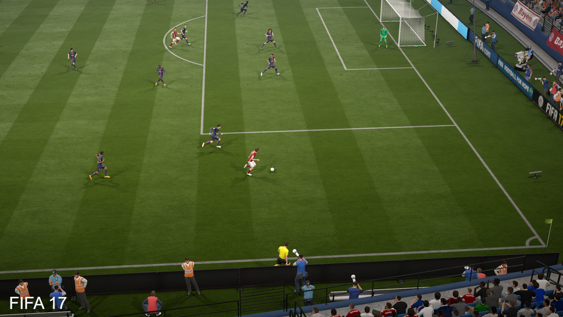 Fifa 17 How The Frostbite Engine Improves Visuals Fifa17 Standard Playstation 4 From Broadcast Camera Theres A Clear Difference In Colour Grading Between 16 And Resulting Lighter Less Vibrant Look