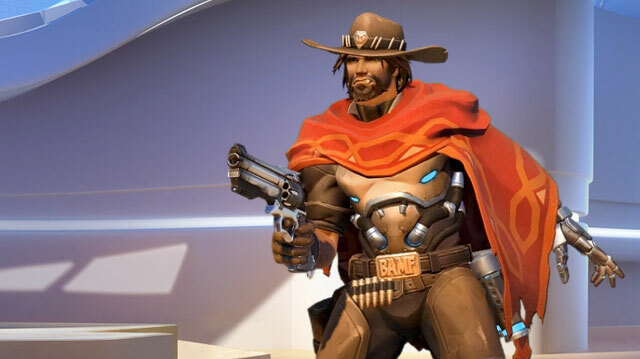 Cowboy vs Robot Knight in Overwatch Xbox One Gameplay