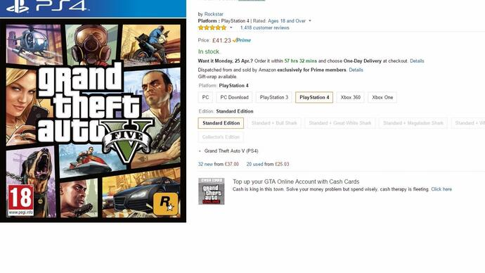 "Amazon marks GTA5, FIFA 16, Minecraft and more as ""exclusively for Prime members"""