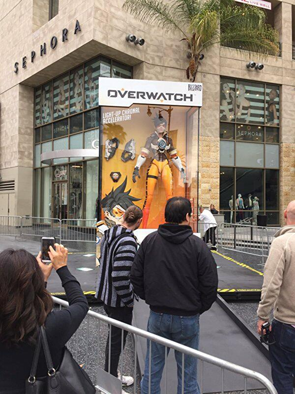 Giant Overwatch action figures appear around the world