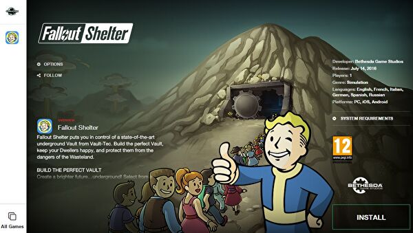 Fallout Shelter heads to PC this week