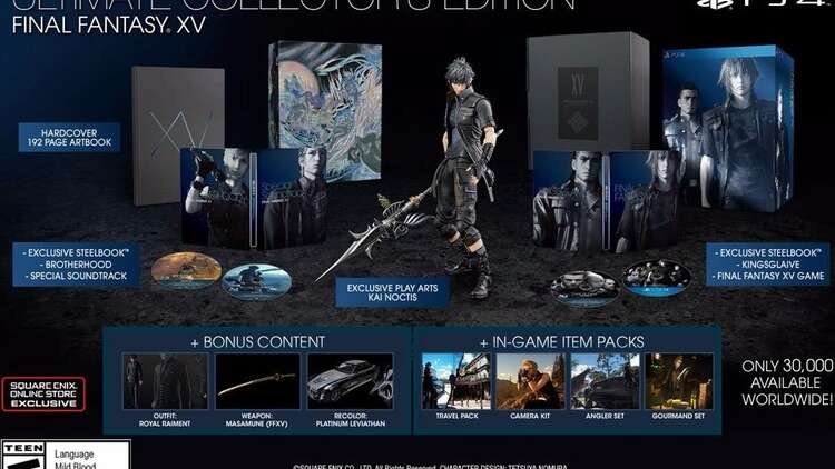 Final Fantasy 15 S 190 Ultimate Collector S Edition Doesn T