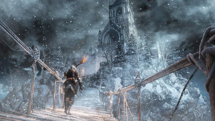 Ashes of Ariandel till Dark Souls 3 har fått en mörk trailer