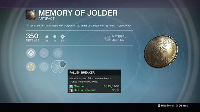 Destiny - Artifacts list, how to get Iron Lord's Legacy and how