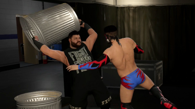 WWE 2K17's Backstage Brawl Turns into a Brutal Dustbin Duel