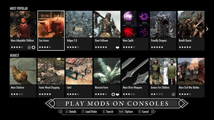 skyrim special edition pc mods steam