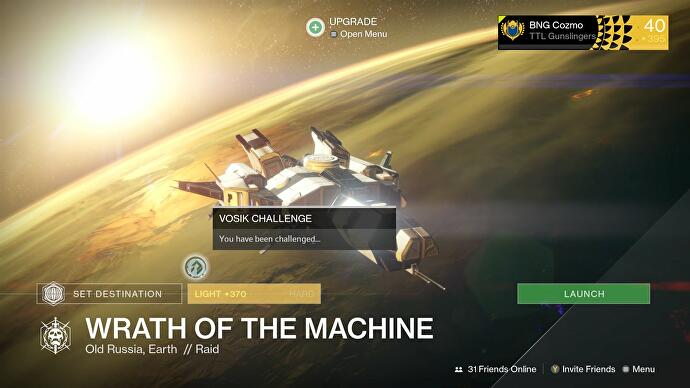 destiny wrath of the machine challenge mode strategy and rewards